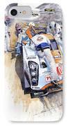Lola Aston Martin Lmp1 Gulf Team 2009 IPhone Case by Yuriy  Shevchuk