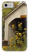Loux Bridge And Tickseed In September IPhone Case by Anna Lisa Yoder