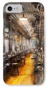 Machinist - Santa's Old Workshop IPhone Case by Mike Savad