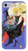 Mad Millie Moon Dance IPhone Case by Richard De Wolfe