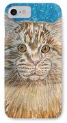 Maine Coon Cat IPhone Case by Kathy Marrs Chandler