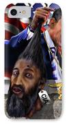 Manifestation Of Frustration - I Am Commander In Chief - Period - On My Watch - Me And My Boys 1-2 IPhone Case by Reggie Duffie