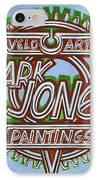 Mark Jones Velo Art Painting Blue IPhone Case by Mark Howard Jones