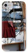 Maroon Sail  IPhone Case by John Rizzuto