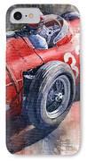 Maserati 250f J M Fangio Monaco Gp 1957 IPhone Case by Yuriy  Shevchuk
