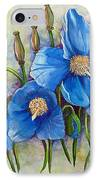 Meconopsis    Himalayan Blue Poppy IPhone Case by Karin  Dawn Kelshall- Best