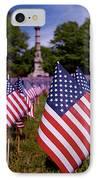 Memorial Day Flag Garden IPhone Case by Rona Black