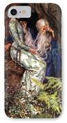 Merlin And Vivien IPhone Case by Eleanor Fortescue Brickdale