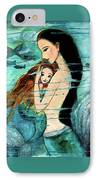 Mermaid Mother And Child IPhone Case by Shijun Munns
