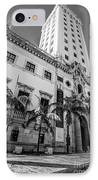 Miami Freedom Tower 1 - Miami - Florida - Black And White IPhone Case by Ian Monk