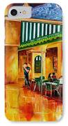 Midnight At The Cafe Du Monde IPhone Case by Diane Millsap