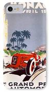 Monaco Grand Prix 1934 IPhone Case by Georgia Fowler