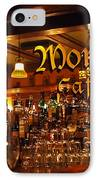 Monks Cafe IPhone Case by Rona Black