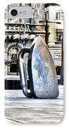 Monopoly Iron Statue In Philadelphia IPhone Case by Bill Cannon