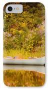 Montpelier Canoe IPhone Case by Deborah Benoit