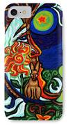 Moon In Tree IPhone Case by Genevieve Esson