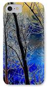 Moonlit Frosty Limbs IPhone Case by Will Borden