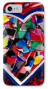 Mosaic Heart IPhone Case by Genevieve Esson
