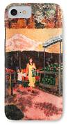 Mother And Child At The Farmer's Market IPhone Case by Robert Yaeger