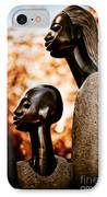 Mother And Son IPhone Case by Venetta Archer