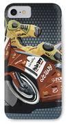 Motorbike Racing Grunge Color IPhone Case by Frank Ramspott