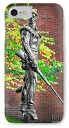 Mountaineer Statue IPhone Case by Dan Friend