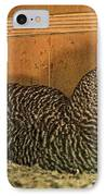Mrs. Chicken Laying On Her Nest IPhone Case by Artist and Photographer Laura Wrede