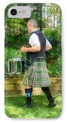 Music - Drummer In Pipe Band IPhone Case by Susan Savad