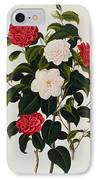 Myrtle Leaved Camellia IPhone Case by Clara Maria Pope