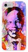 Nelson Mandela Watercolor IPhone Case by Naxart Studio