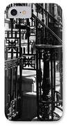 New York City Wrought Iron IPhone Case by Rona Black