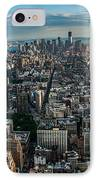 New York From A Birds Eyes - Fisheye IPhone Case by Hannes Cmarits