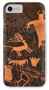 Newspaper Rock Close-up IPhone Case by Gary Whitton