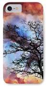 Night Sky Landscape Art By Sharon Cummings IPhone Case by Sharon Cummings