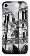 Notre Dame IPhone Case by John Rizzuto