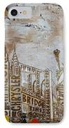 Ny City Collage 7 IPhone Case by Corporate Art Task Force