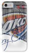 Oklahoma City Thunder IPhone Case by Joe Hamilton