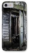 Old Abandoned Well House With Door Ajar IPhone Case by Edward Fielding