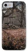Old Barn In Autumn IPhone Case by Edward Fielding