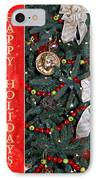 Old Fashioned Christmas IPhone Case by Carolyn Marshall