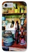 Old-fashioned Coffee Grinder IPhone Case by Susan Savad