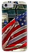 Old Glory And The Bay IPhone Case by Tom Gari Gallery-Three-Photography