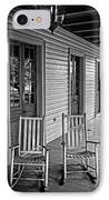 Old Porch Rockers IPhone Case by Perry Webster
