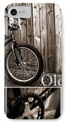 Old School Bmx - Pk Collage Bw IPhone Case by Jamian Stayt
