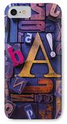 Old Typesetting Fonts IPhone Case by Garry Gay