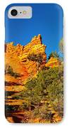 Orange Foreground A Blue Blue Sky  IPhone Case by Jeff Swan