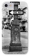 Orleans One Way IPhone Case by John Rizzuto