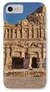 Palace Tombin Nabataean Ancient Town Petra IPhone Case by Juergen Ritterbach