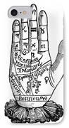 Palmistry Chart, 1885 IPhone Case by Granger