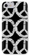Peace In Black And White IPhone Case by Michelle Calkins